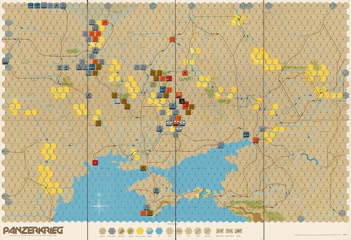 Panzerkrieg {Avalon Hill}Map5